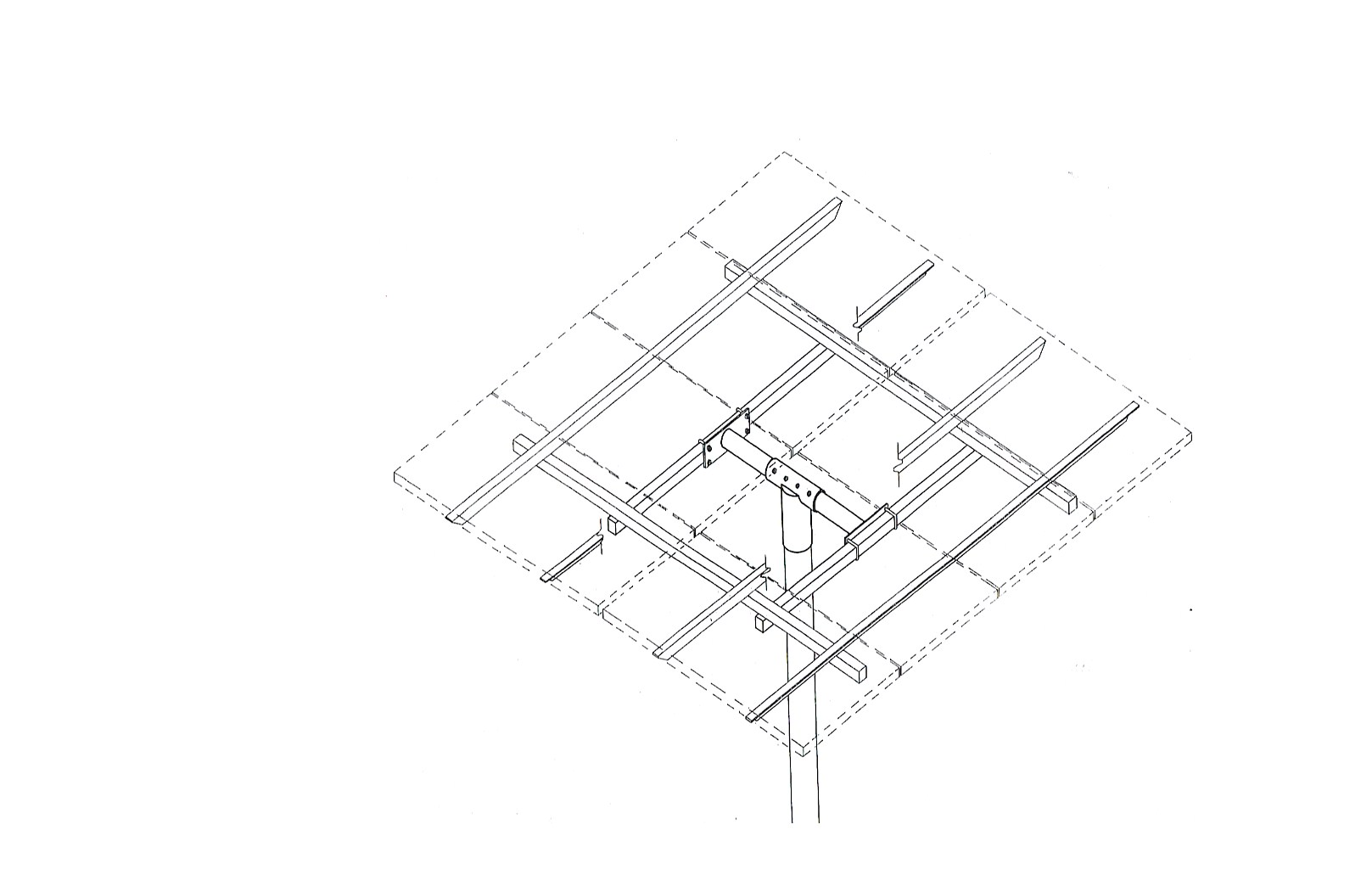 General Specialties UPM 6X Pole Mount (for Panel Sizes: D)